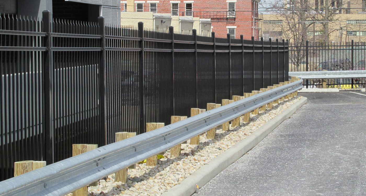 image of a guardrail installation done by Colonial Post and Fence