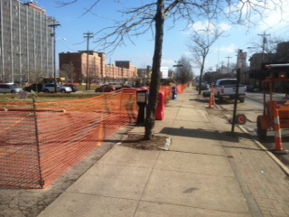 Temporary Construction fence installed by Colonial Post and Fence