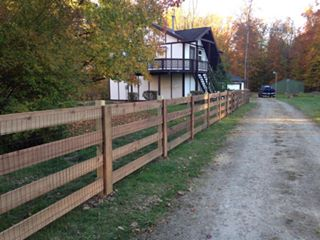 Residential Fence installation near Mt. Orab, Ohio